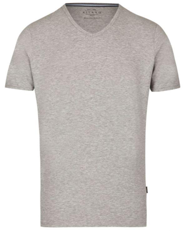T-shirt col V stretch