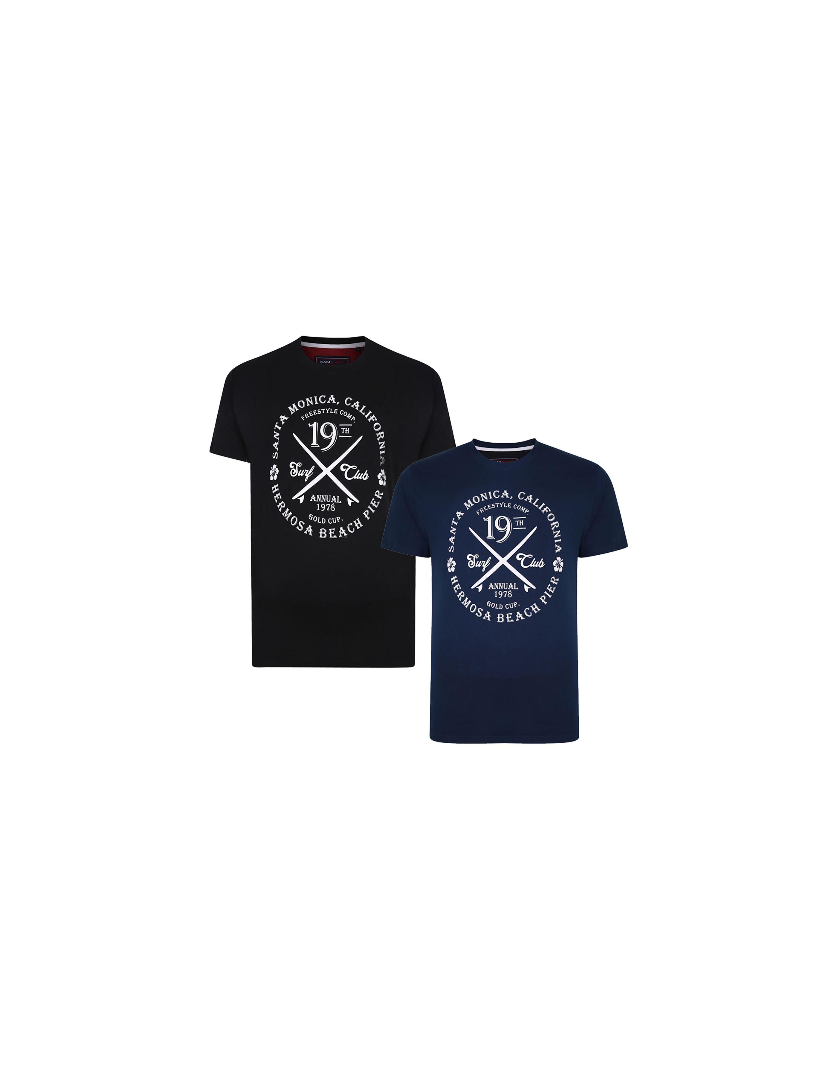 Pack de 2 t shirts imprimés