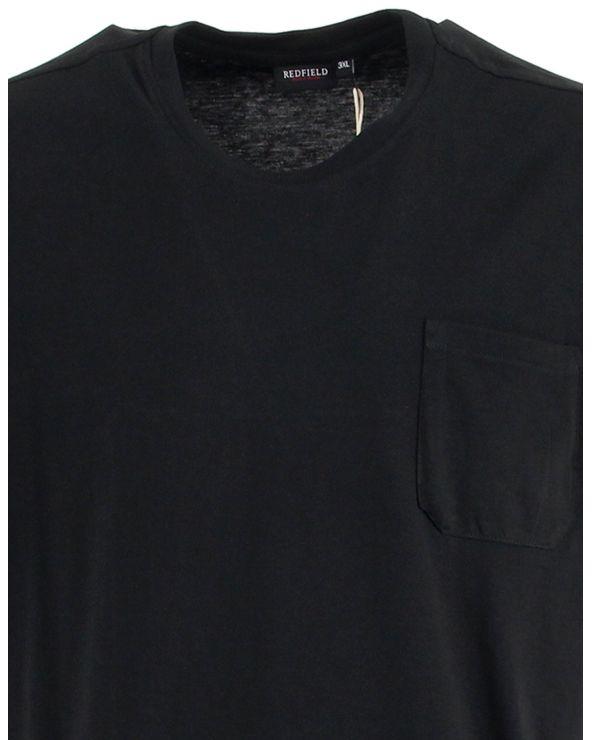 T shirt col rond uni avec poche