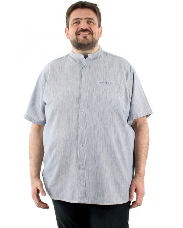 Chemisette rayée col mao avec poche