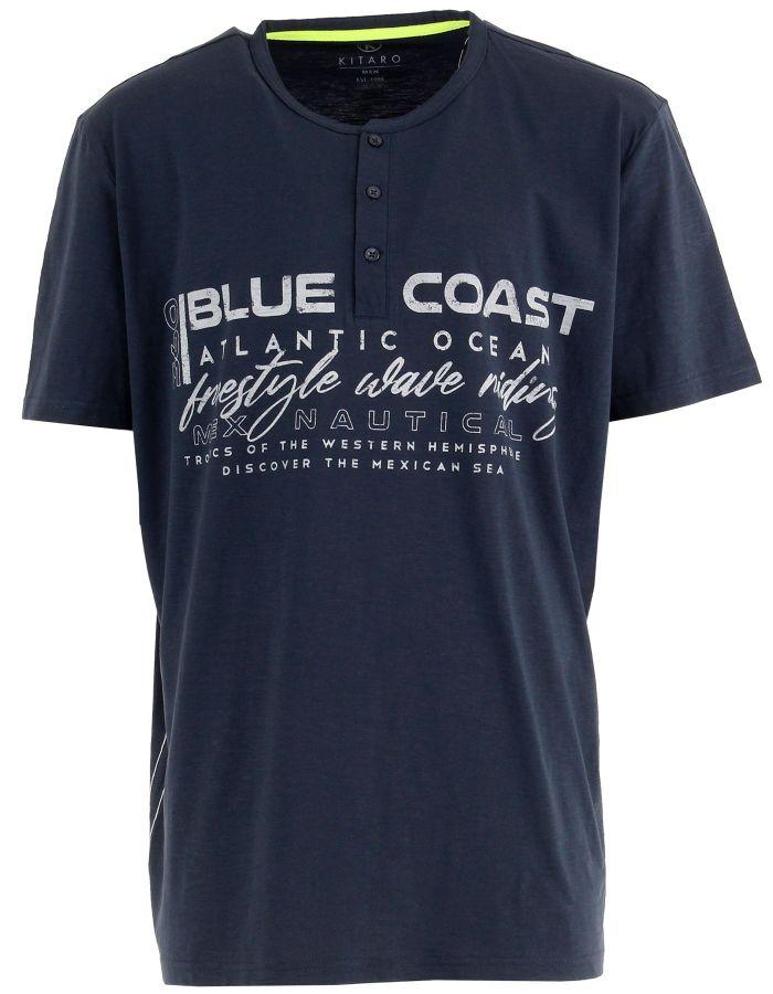 T shirt col tunisien Blue Coast
