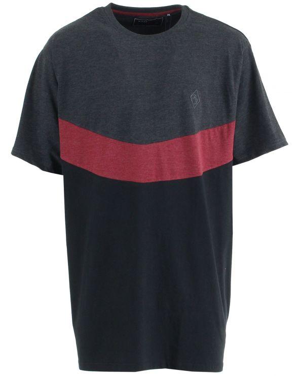 T shirt empiècement en V sur poitrine