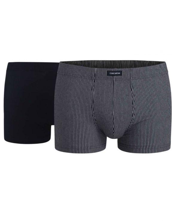 Pack de 2 boxers assortis ton bleu