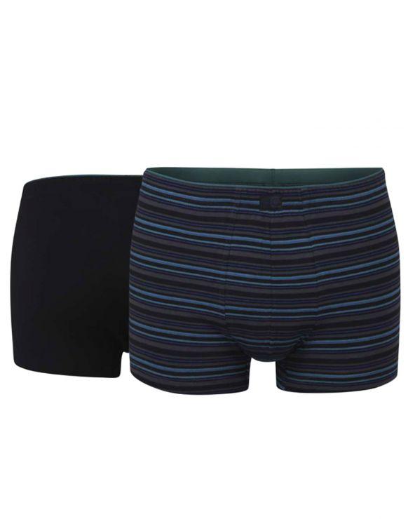 Pack de 2 boxers assortis uni et rayures