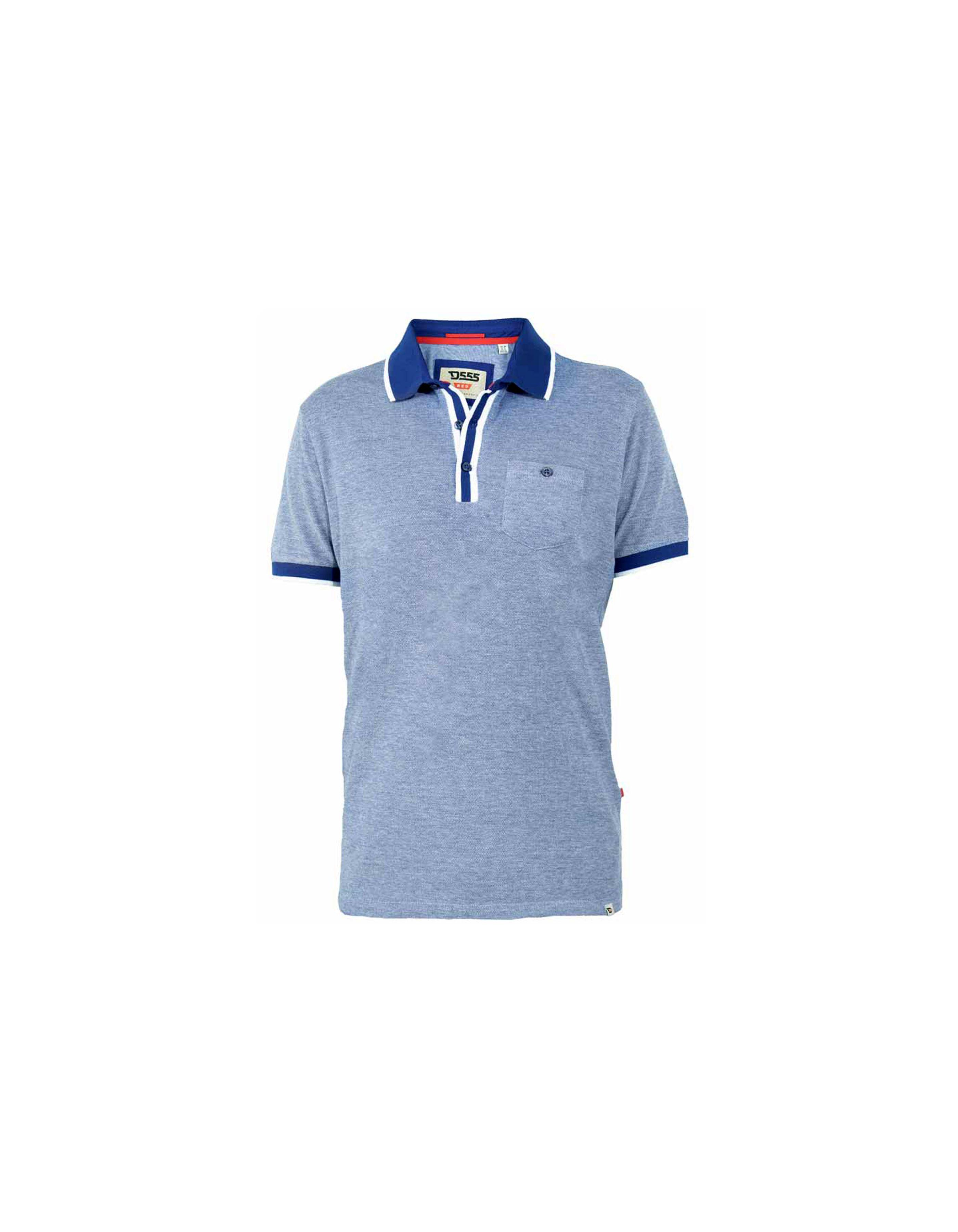 Polo à bandes contrastées avec poche
