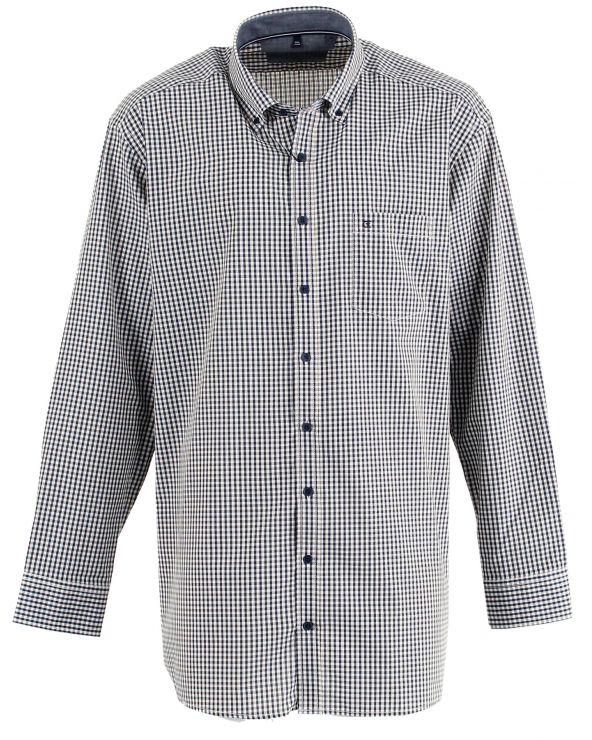 Chemise imprimée à carreaux avec motif
