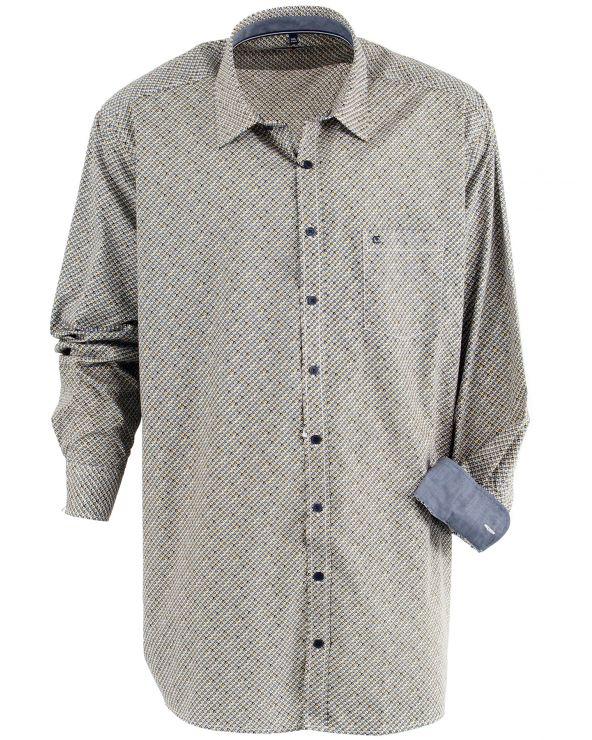 Chemise imprimée à carreaux sur carreaux