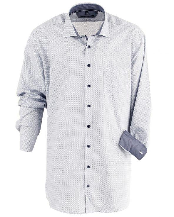 Chemise à très petits carreaux