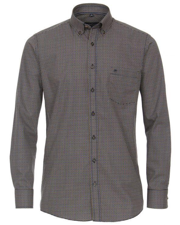 Chemise à très petits carreaux de couleur
