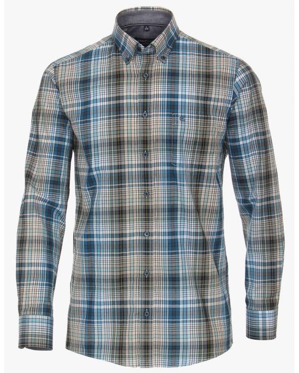 Chemise à carreaux asymétriques