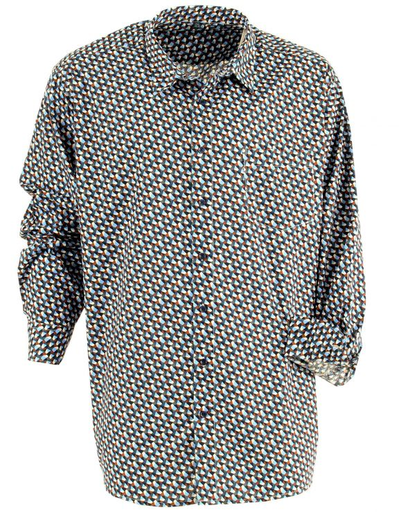 Chemise coton à motif kaleidoscope