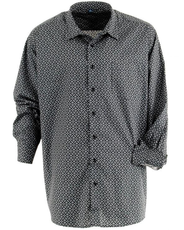 Chemise coton à motif ethnique