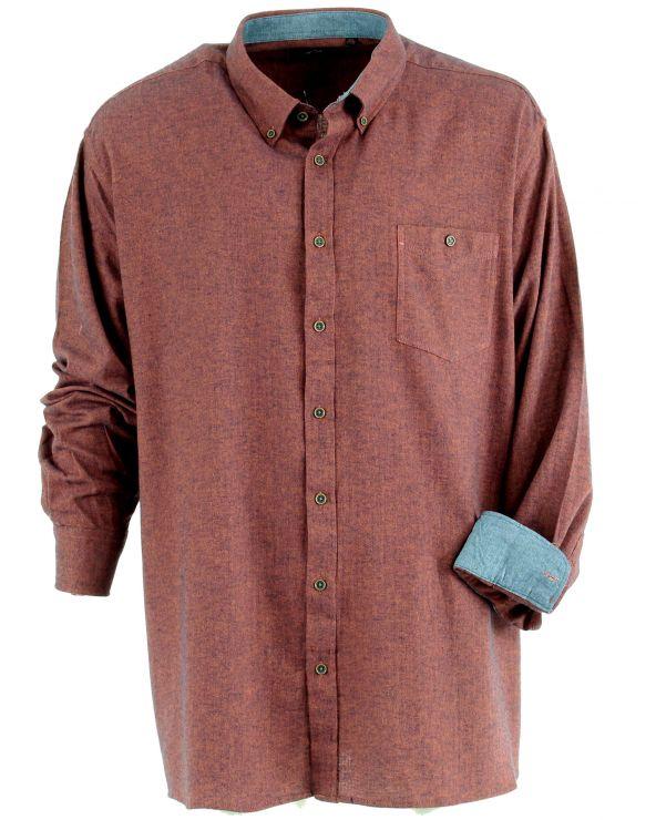 Chemise coton peigné à chevron