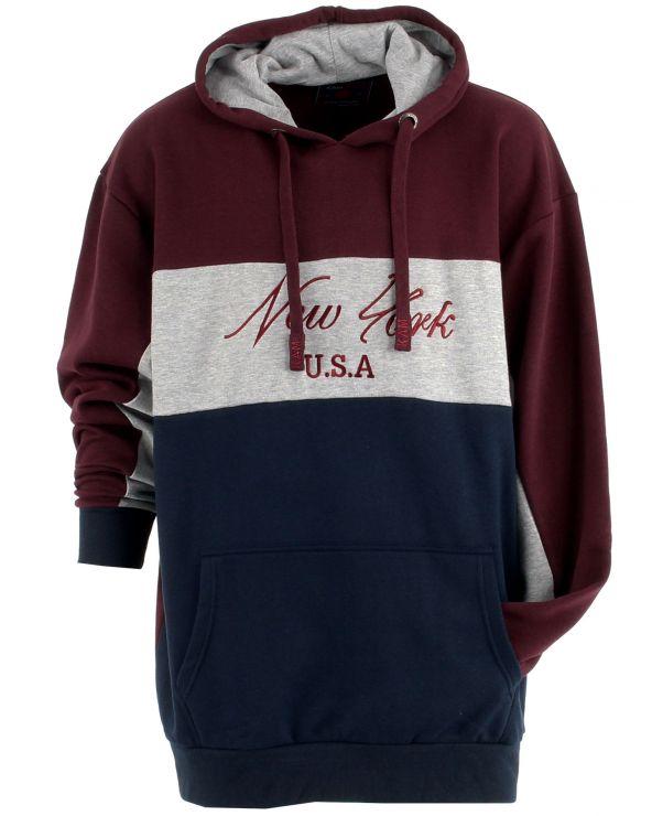 Sweatshirt imprimé à capuche
