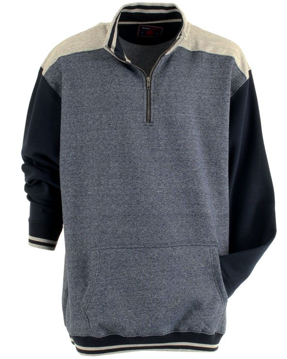 Sweatshirt col montant 3 couleurs
