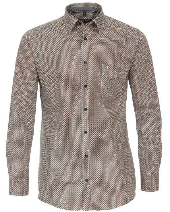Chemise à motifs arlequin en popeline