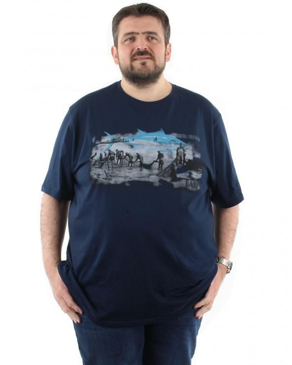 """T shirt imprimé """"Pêcheur"""""""