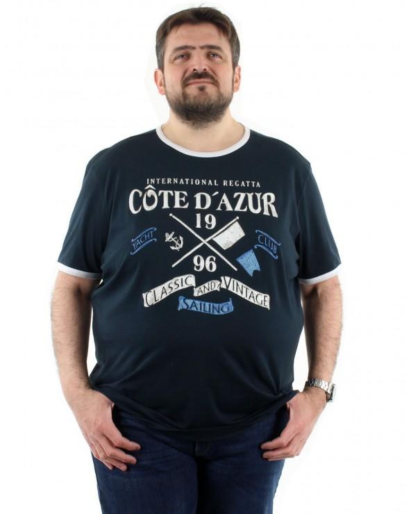 T shirt Côte d'Azur marine