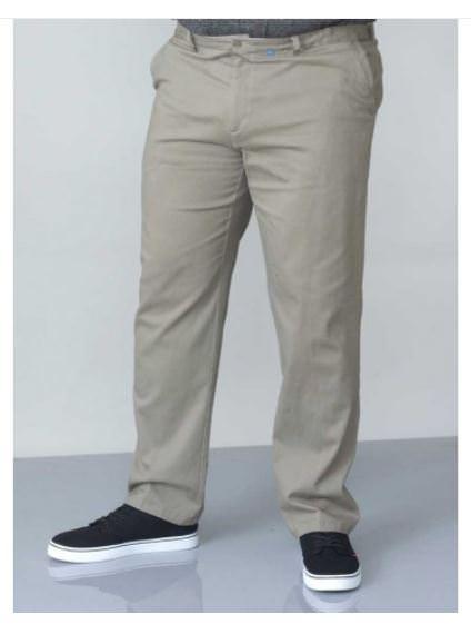 Pantalon chino beige en grande taille pour homme