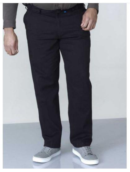 Pantalon chino noir grande taille pour homme disponible jusqu'au 76