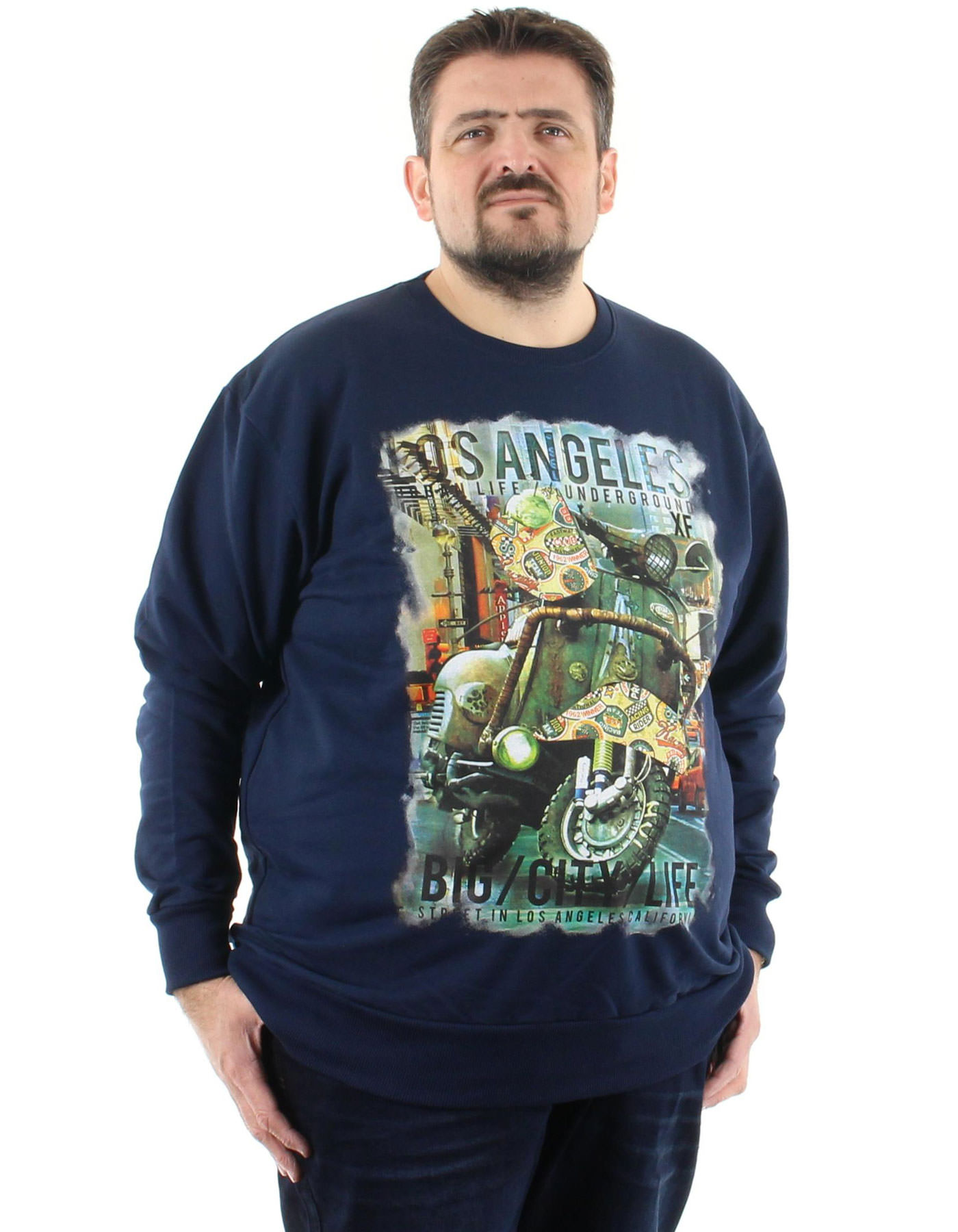 sweatshirt grande taille pour homme disponible du 2XL au 10XL