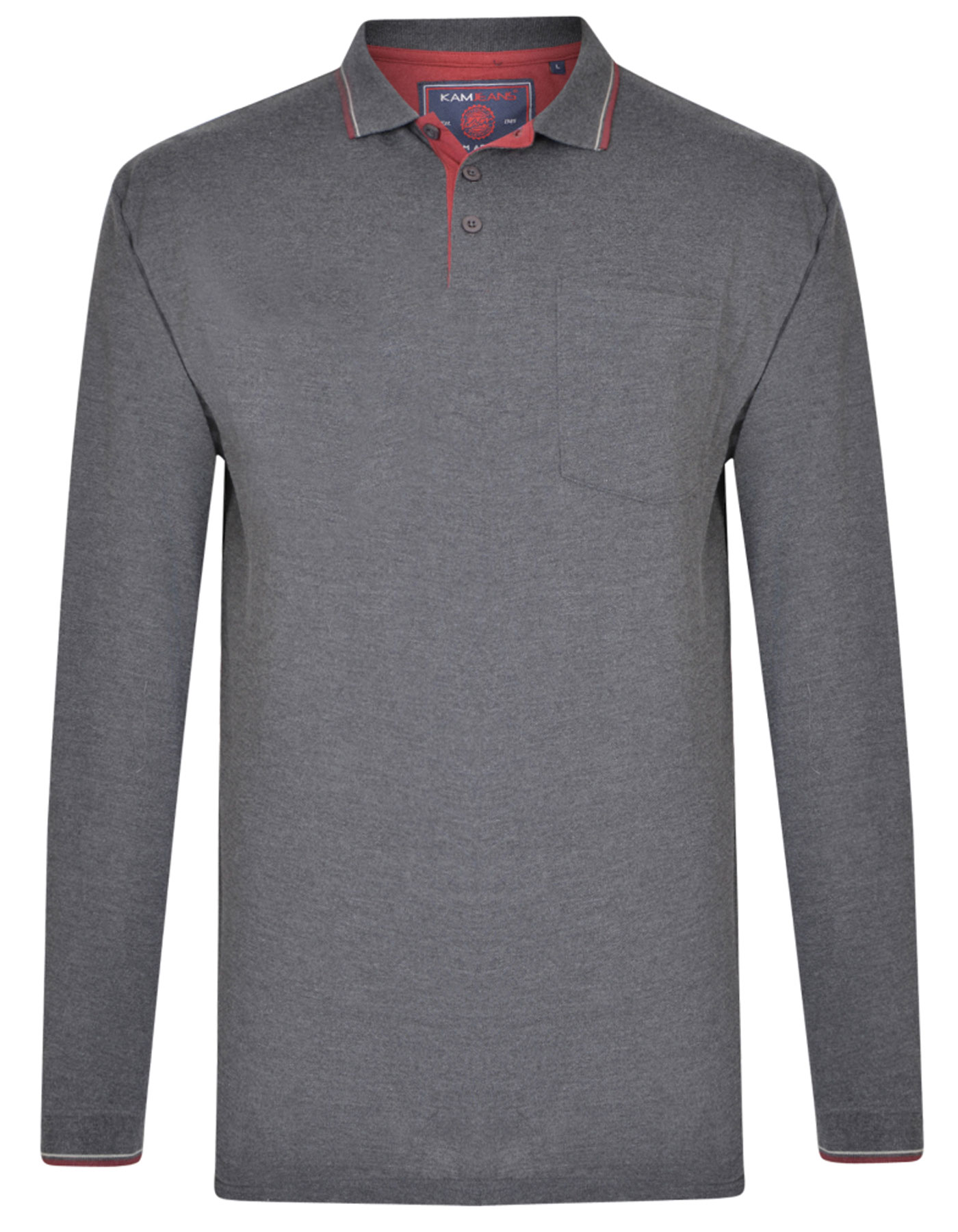 polo manches longues grande taille homme