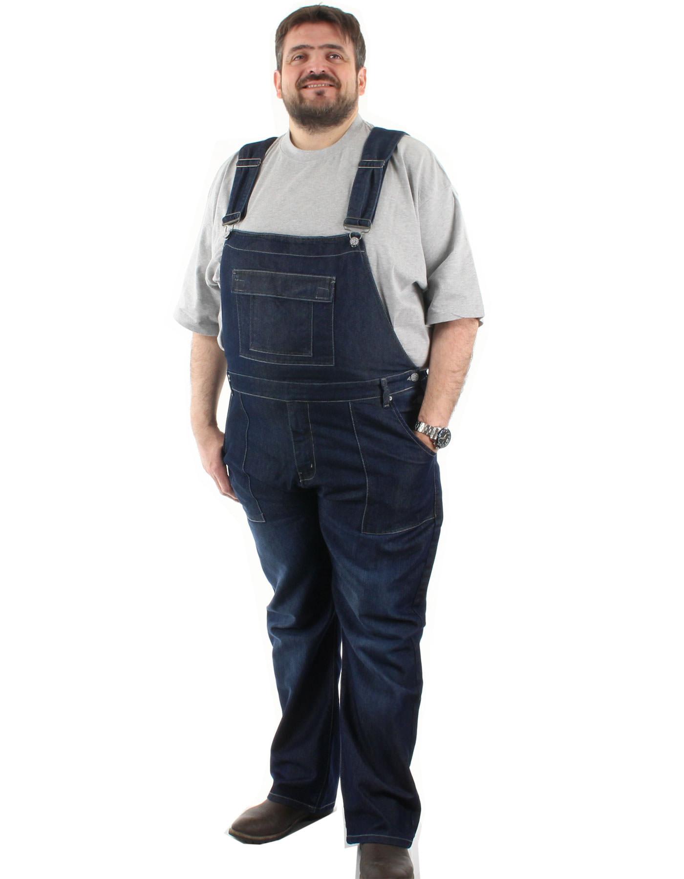 salopette en jean grande taill epour homme disponible jusqu'au 86